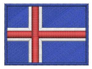 Nášivka Islandská vlajka