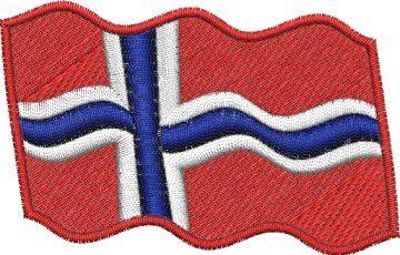 Norská vlajka vlající Pelisport