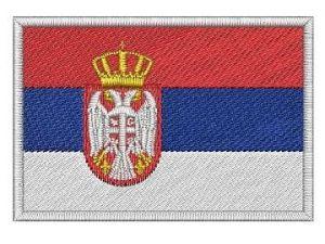 Nášivka Srbská vlajka