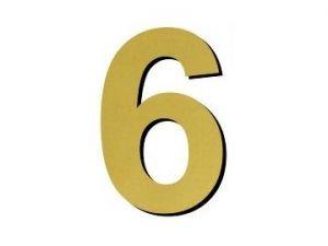 Číslice 6 plast - 1 ks