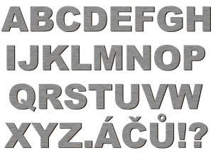 Písmena typ 01 - 1 ks