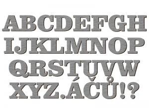 Písmena typ 03 - 1 ks