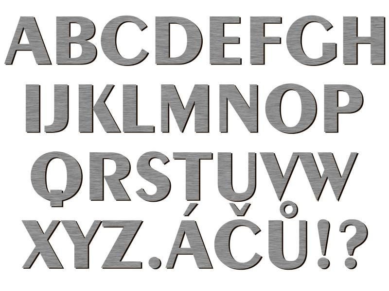 font Exotic 350 Bd AT stříbrný plast