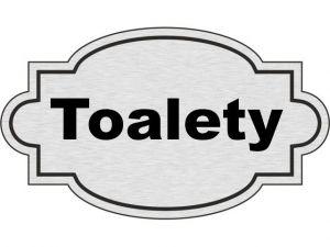 Dveřní štítek Toalety