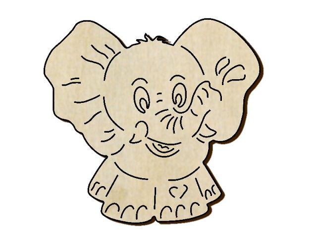 Slon výřez z překližky