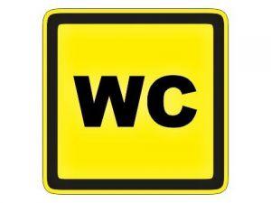Štítek WC žlutý