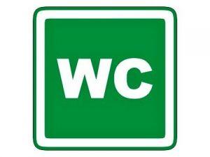 Štítek WC zelený