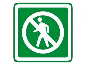 Zákaz vstupu zelený