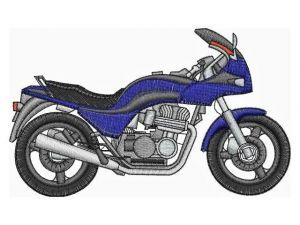 Výšivka Motorka