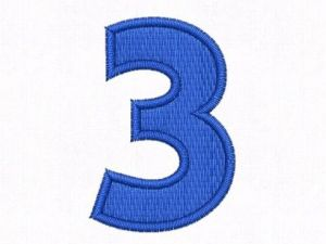 Nášivka čísla 3