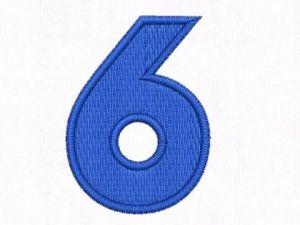 Nášivka čísla 6