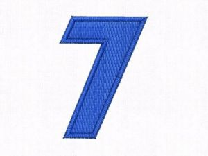 Nášivka čísla 7