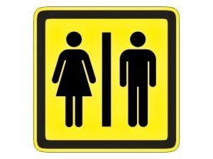 Piktogram Dámy a Páni žlutý