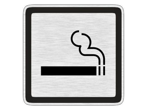 Piktogram kouření povoleno stříbrný