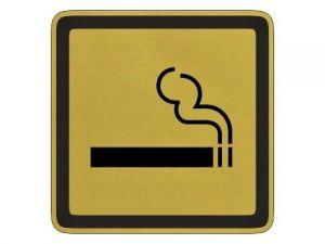 Piktogram kouření povoleno zlatý
