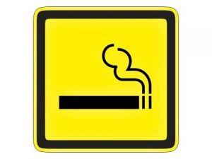 Piktogram kouření povoleno žlutý