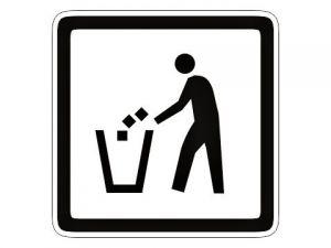 Piktogram odpadkový koš bílý