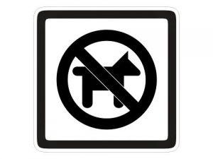 Piktogram Zákas vstupu psům bílý