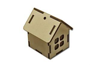 3D domeček - 4 okna