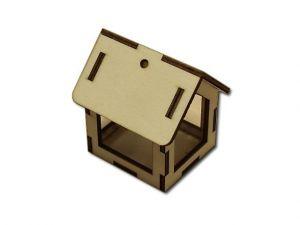 3D domeček - velké okno