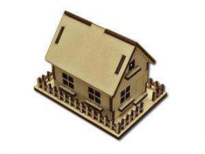 3D domeček s plotem