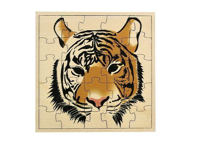 Dřevěné puzzle Tygr