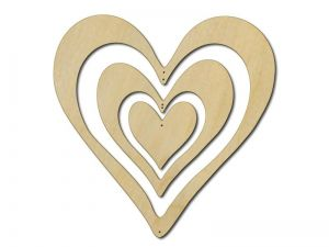 Dekorace 3 srdce V2