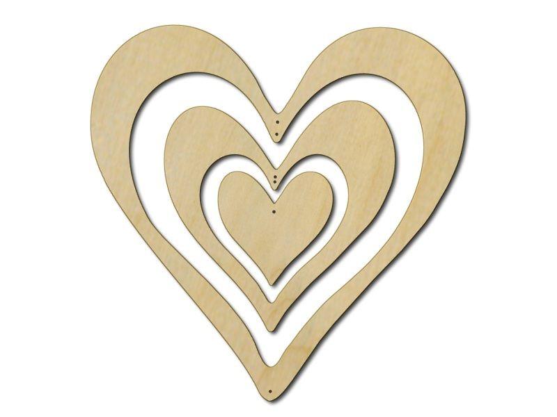 Nástěnná dekorace Srdce z překližky