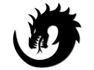 černě mořená