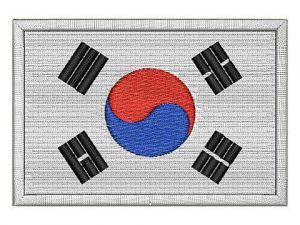 Nášivka vlajka Jižní Koreja