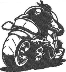 Tričko motorkář s výš. vzadu