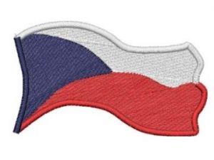 Nášivka Česká vlajka vlající