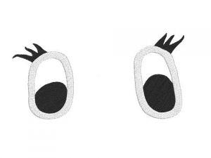 Výšivka Oči