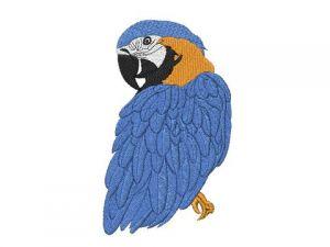 Výšivka Papoušek Ara