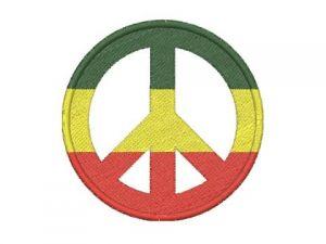 Výšivka Peace - rasta