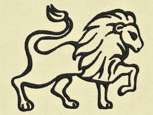 Výšivka zvěrokruh Lev