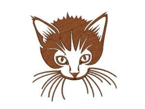 Výšivka hlava kočky