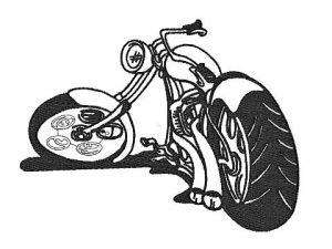 Zobrazit detail - Výšivka Motorka 6