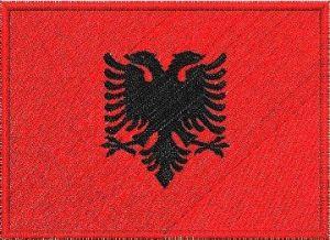 Nášivka Albánská vlajka