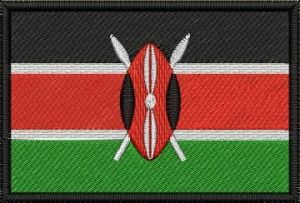 Nášivka Keňská vlajka