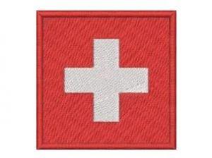 Nášivka Švýcarská vlajka