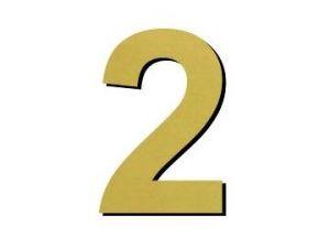 Číslice 2 plast - 1 ks