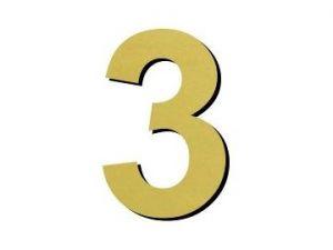 Číslice 3 plast - 1 ks