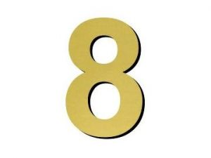 Číslice 8 plast - 1 ks