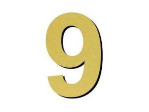 Číslice 9 plast - 1 ks