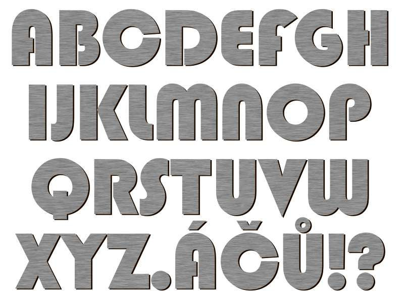 font Blippo BK AT stříbrný plast