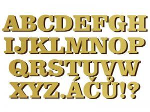font Comic Sans MS zlatý plast