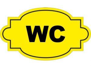 Dveřní štítek WC žlutý