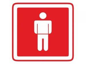 Dveřní štítek páni červený