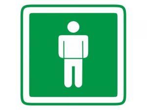 Dveřní štítek páni zelený